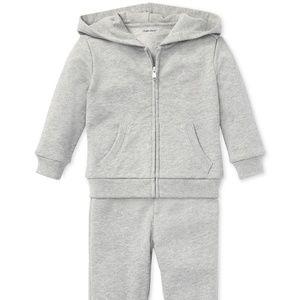 NWT Polo Ralph Lauren Hoodie & Jogger Set $55 Grey
